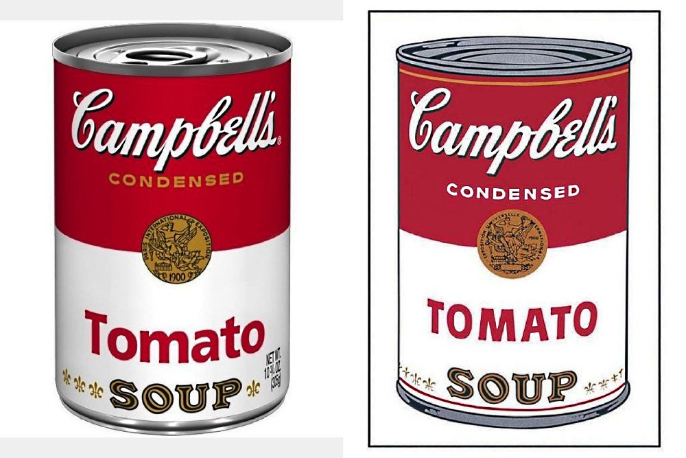 Campbell's Soup Cans - by Andy Warhol.